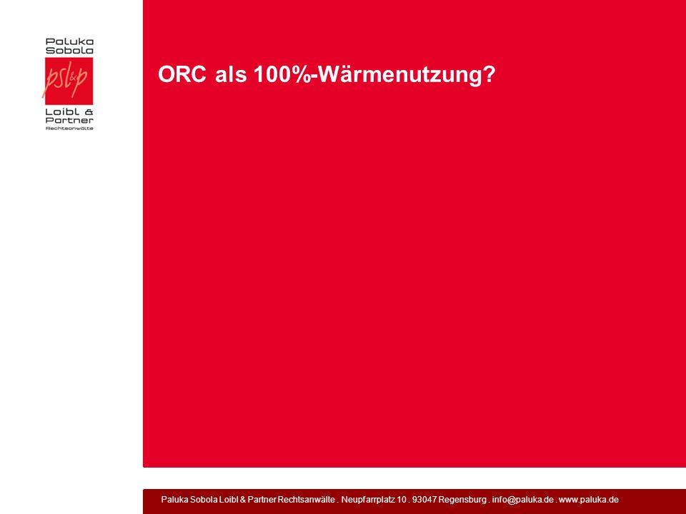 ORC als 100%-Wärmenutzung
