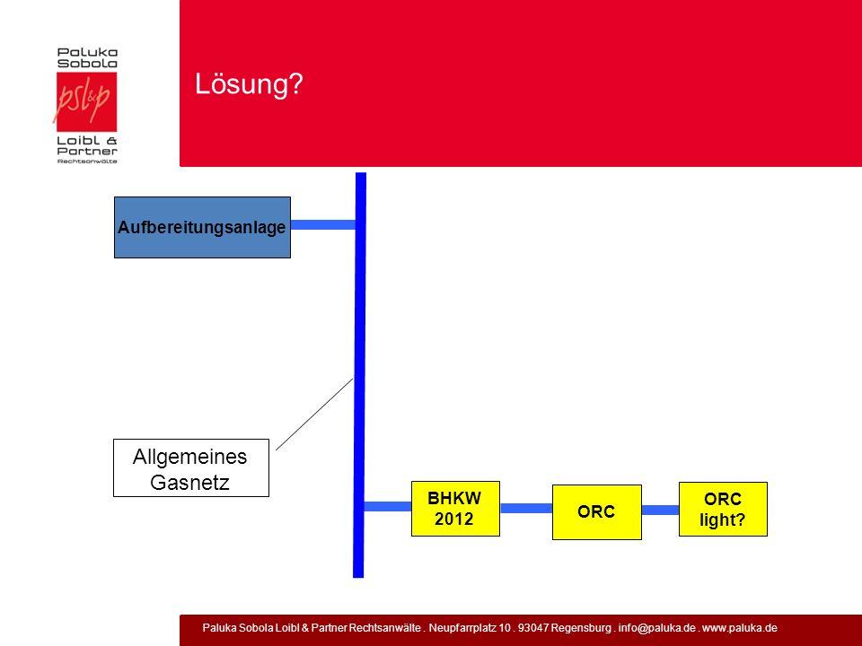 Lösung Allgemeines Gasnetz Aufbereitungsanlage BHKW 2012 ORC ORC