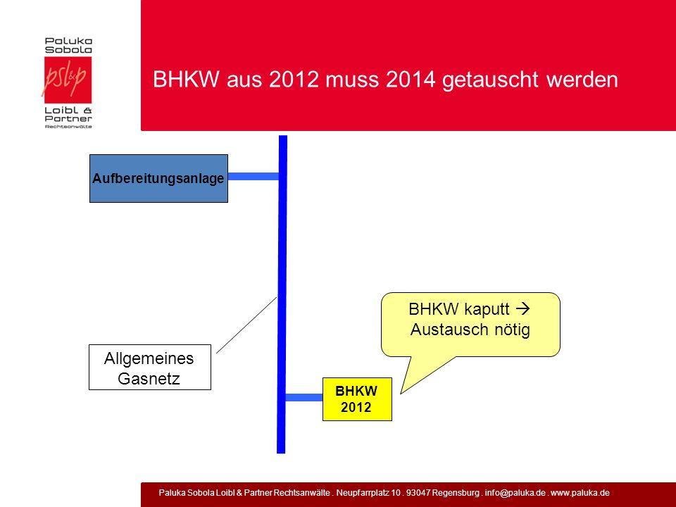 BHKW aus 2012 muss 2014 getauscht werden