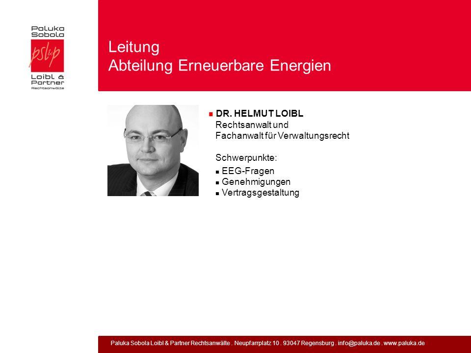 Leitung Abteilung Erneuerbare Energien