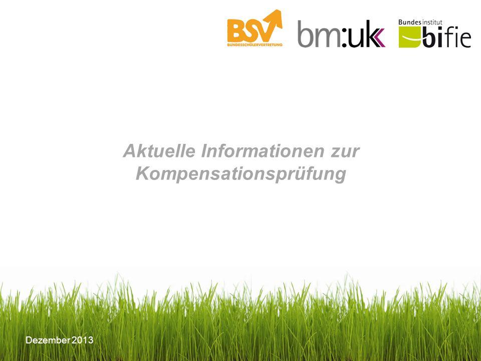 Aktuelle Informationen zur Kompensationsprüfung