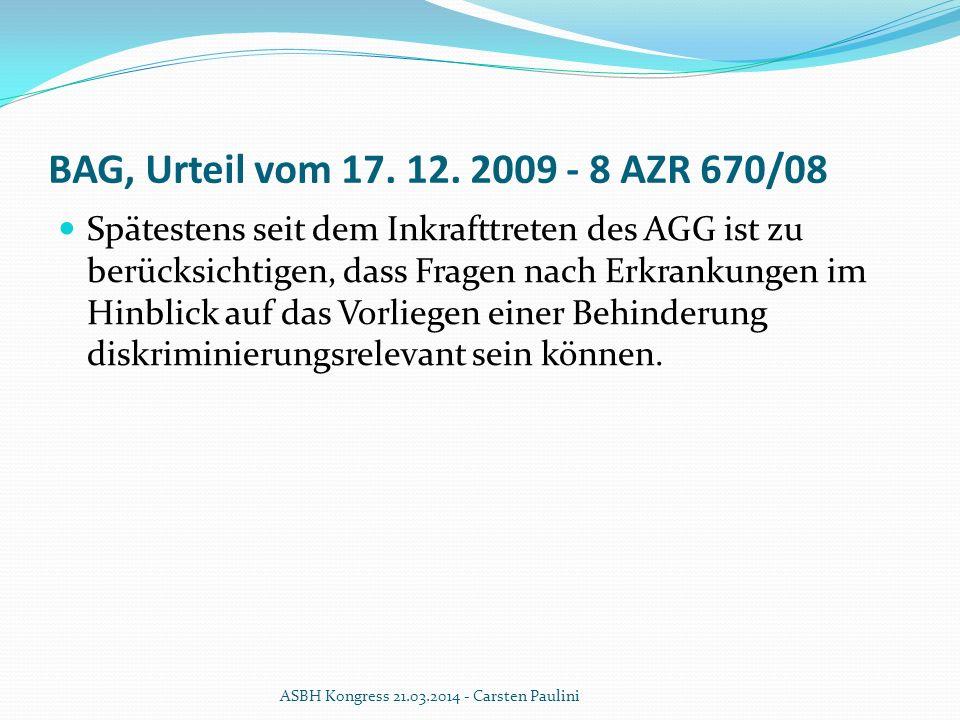 BAG, Urteil vom 17. 12. 2009 - 8 AZR 670/08