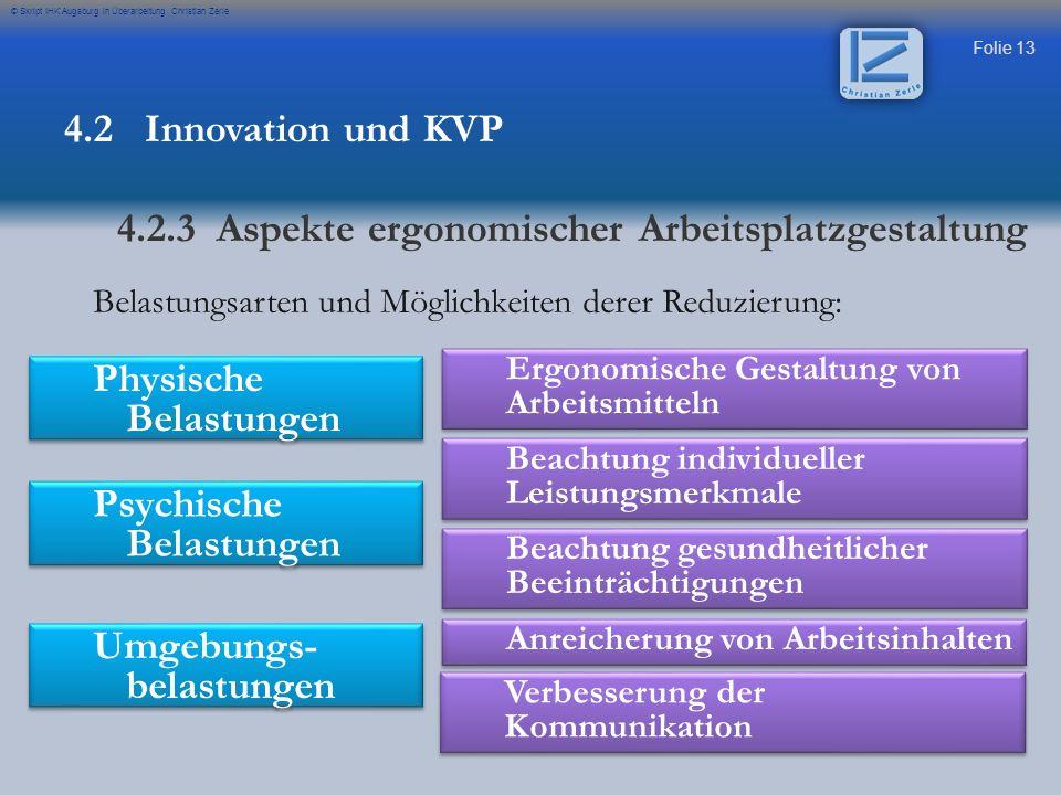 4.2.3 Aspekte ergonomischer Arbeitsplatzgestaltung