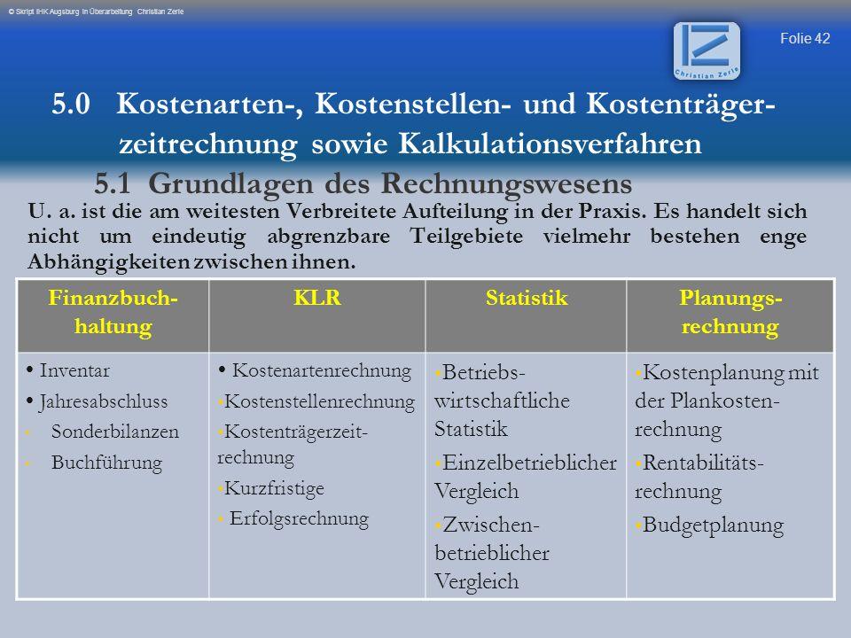 5.1 Grundlagen des Rechnungswesens