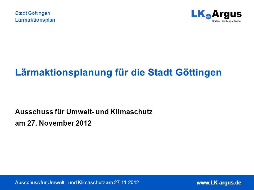Lärmaktionsplanung für die Stadt Göttingen