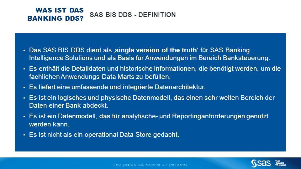 Was ist das Banking DDS SAS BIS DDS - DeFinition.