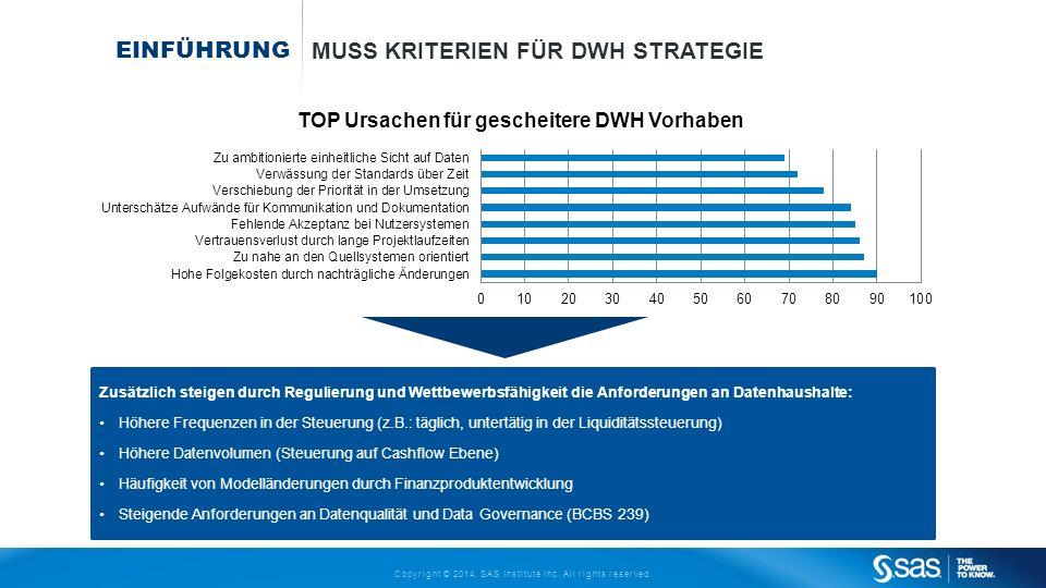 Muss Kriterien für DWH Strategie