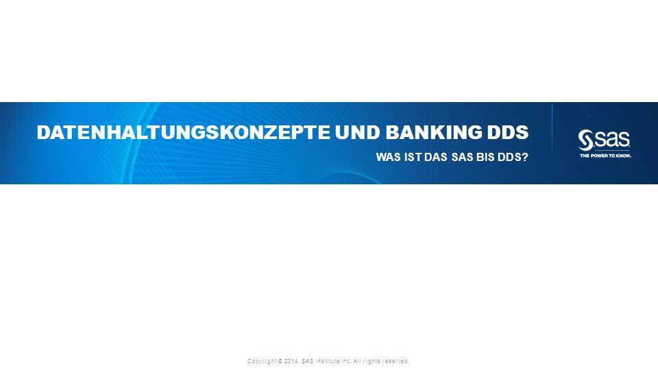 Datenhaltungskonzepte und Banking DDS