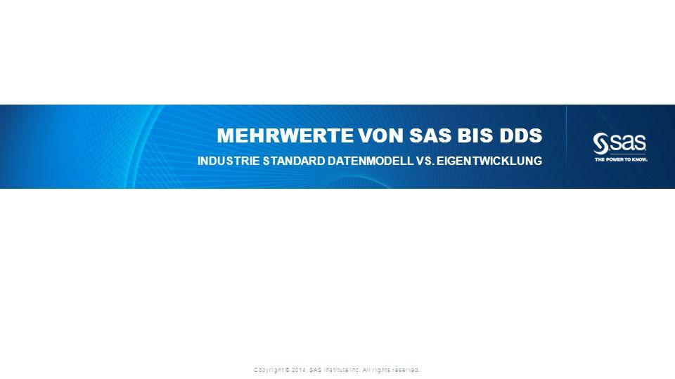 Mehrwerte von SAS BIS DDS