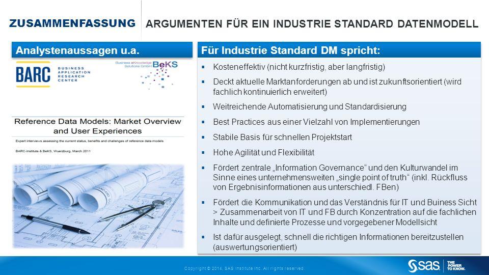Argumenten für ein Industrie Standard Datenmodell
