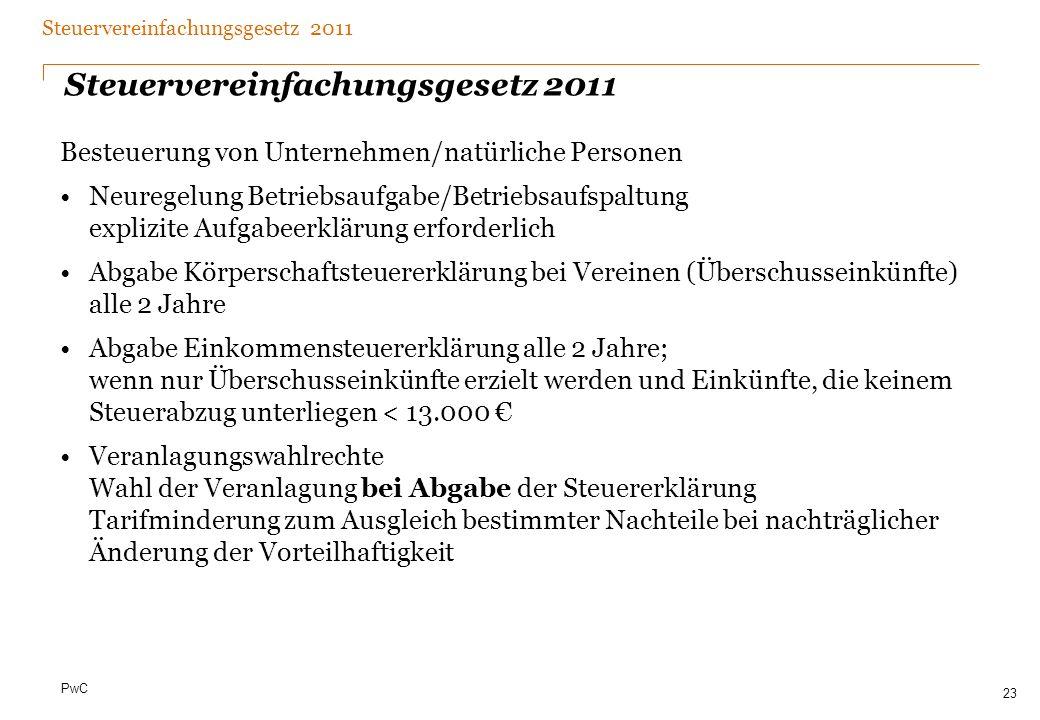 Date Steuervereinfachungsgesetz 2011. Sonstiges.