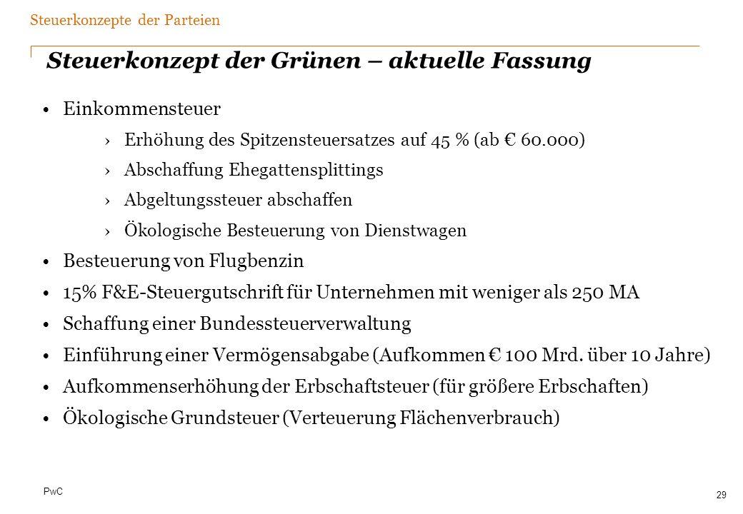 Steuerkonzept der SPD – Vorstandsvorlage 2010