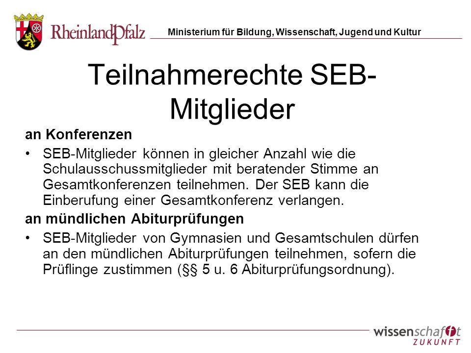 Teilnahmerechte SEB-Mitglieder