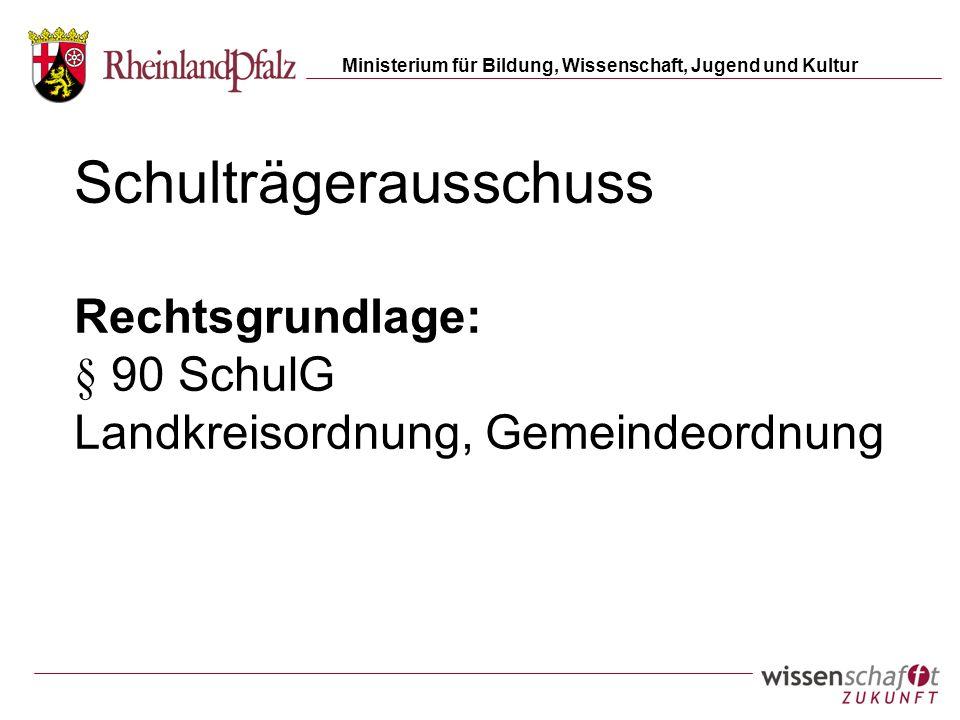 Schulträgerausschuss Rechtsgrundlage: § 90 SchulG Landkreisordnung, Gemeindeordnung