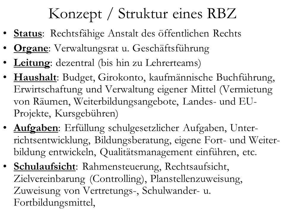 Konzept / Struktur eines RBZ