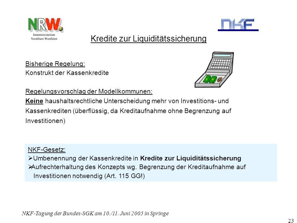 Kredite zur Liquiditätssicherung