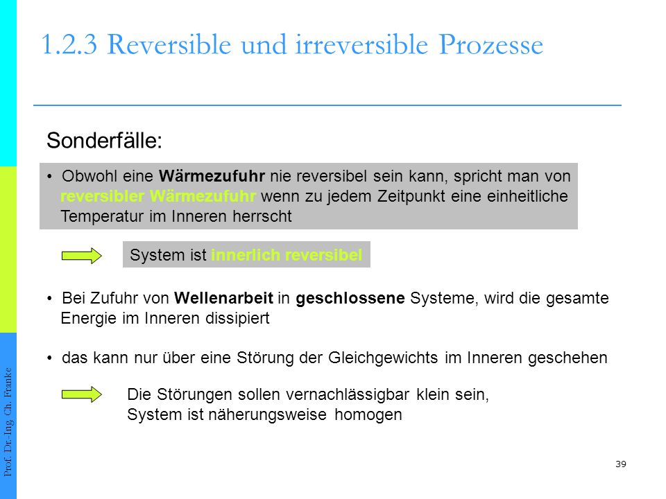 1.2.3 Reversible und irreversible Prozesse
