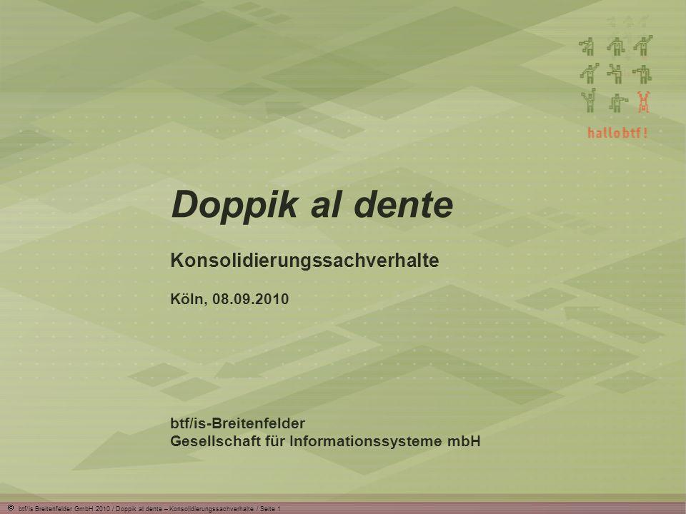 Doppik al dente Konsolidierungssachverhalte Köln, 08.09.2010