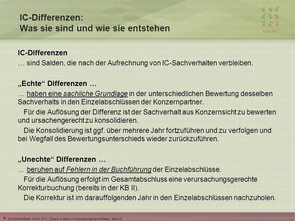 IC-Differenzen: Was sie sind und wie sie entstehen
