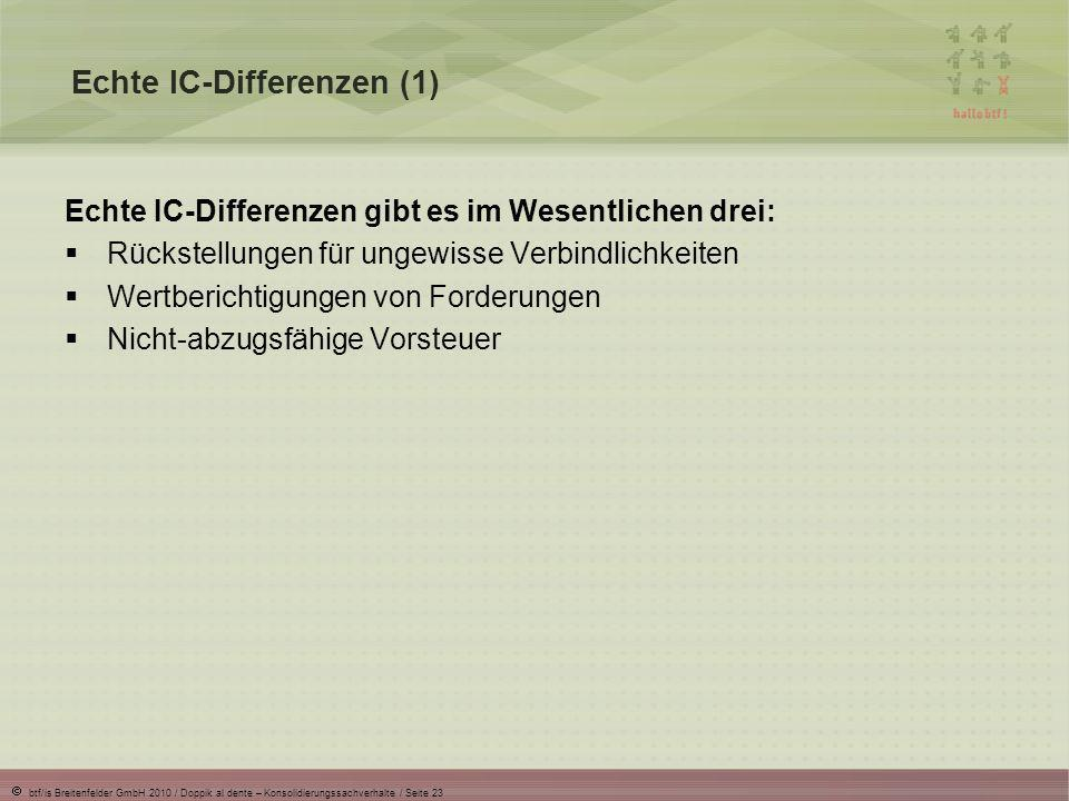 Echte IC-Differenzen (1)