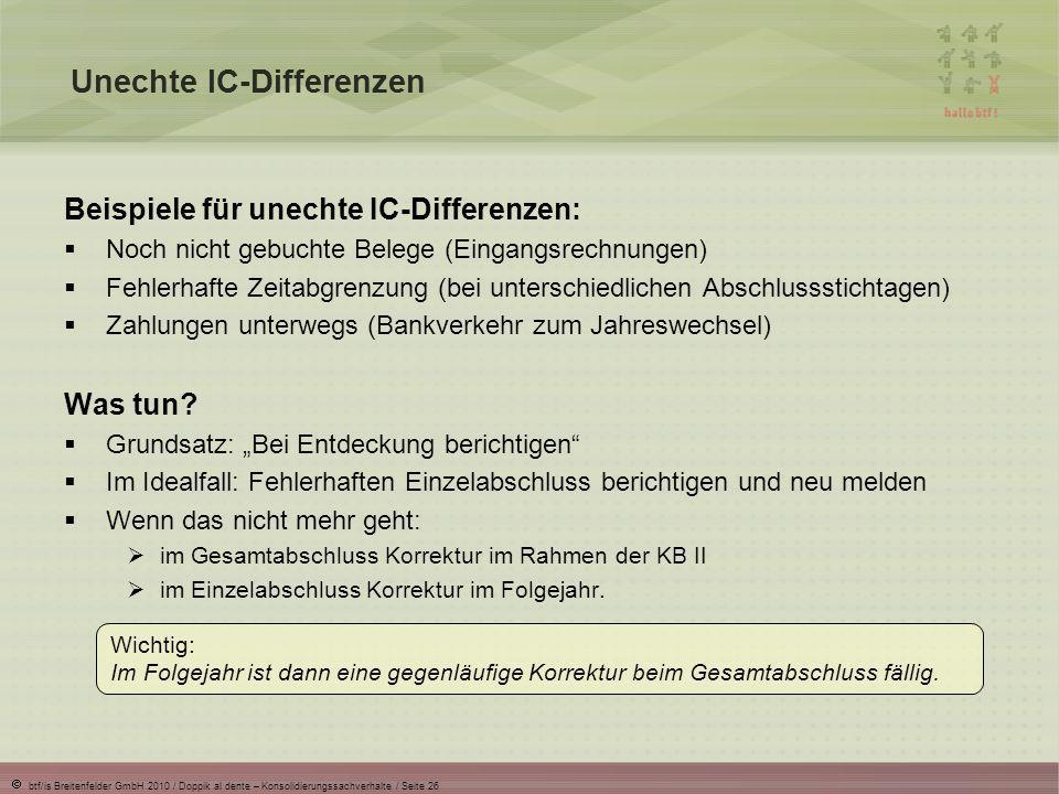 Unechte IC-Differenzen
