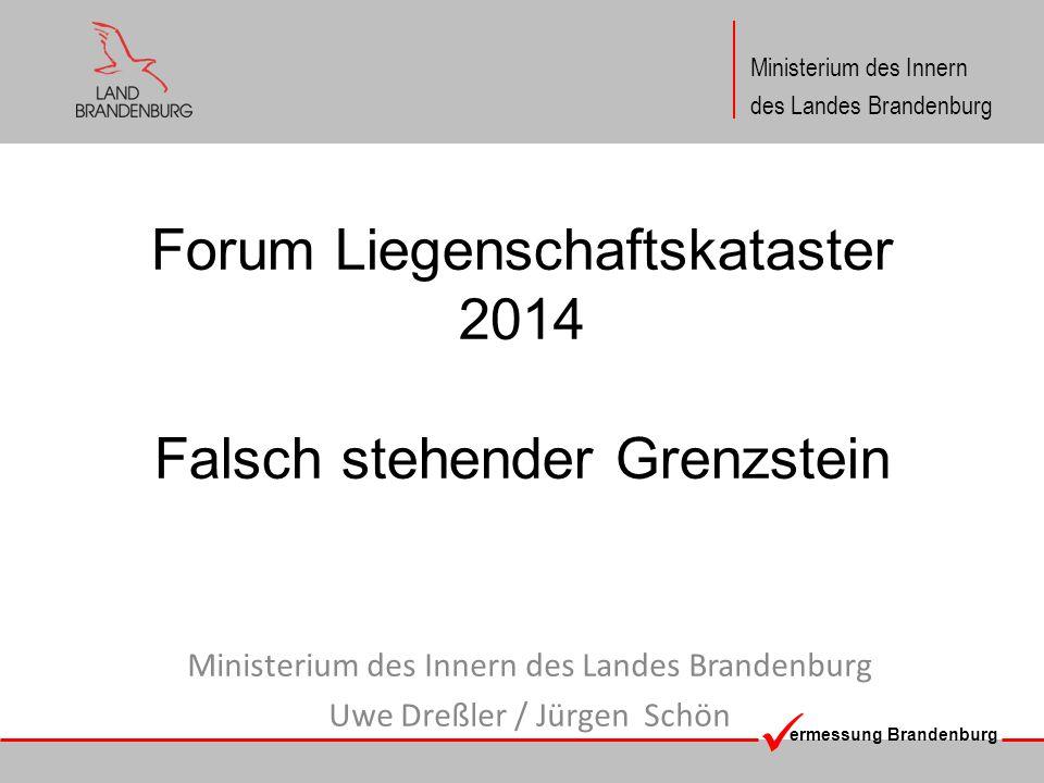 Forum Liegenschaftskataster 2014 Falsch stehender Grenzstein