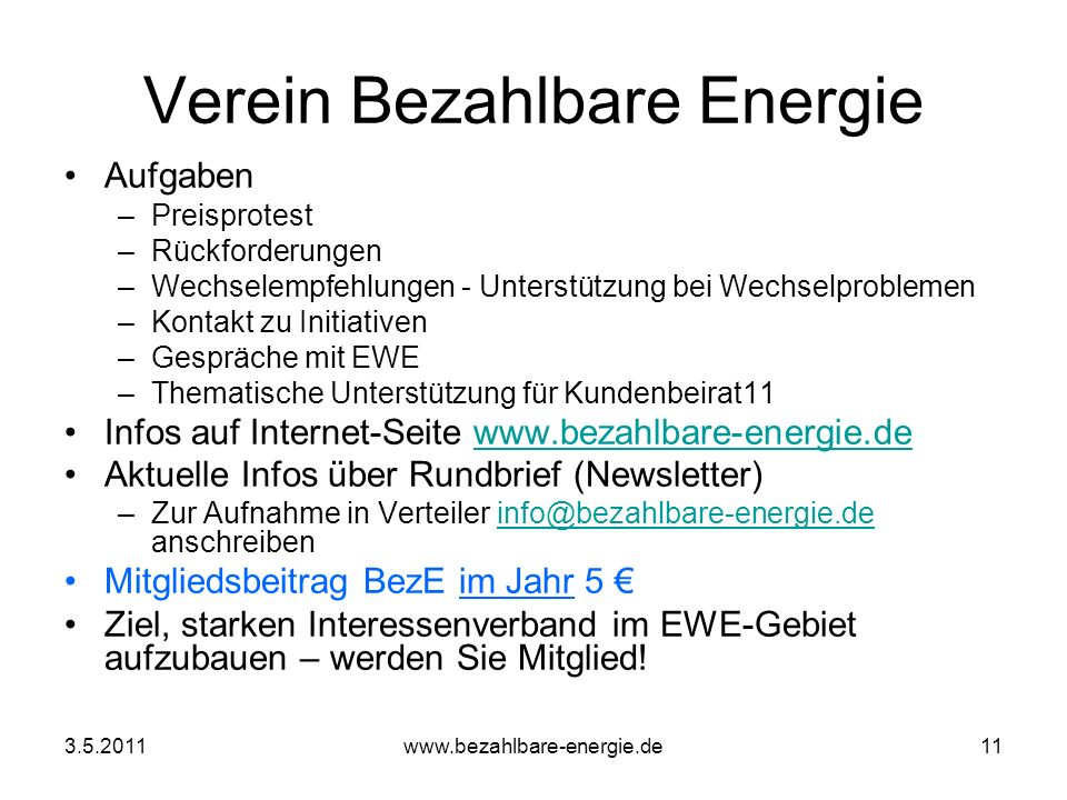 Verein Bezahlbare Energie