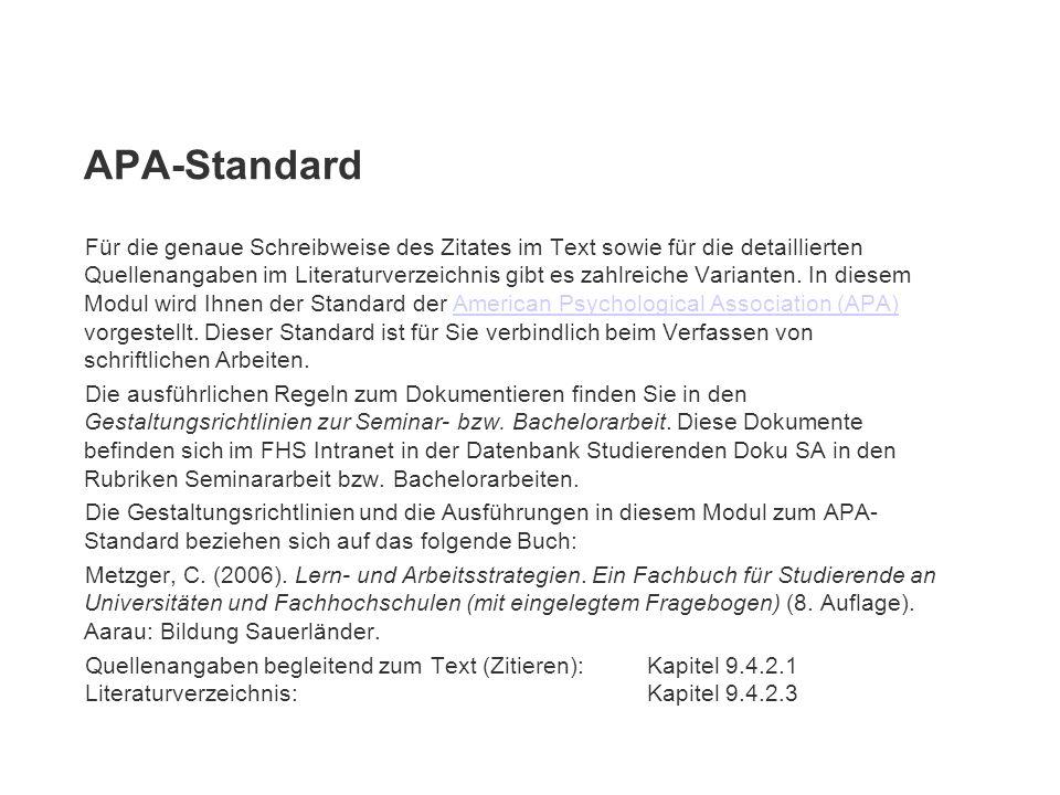 APA-Standard