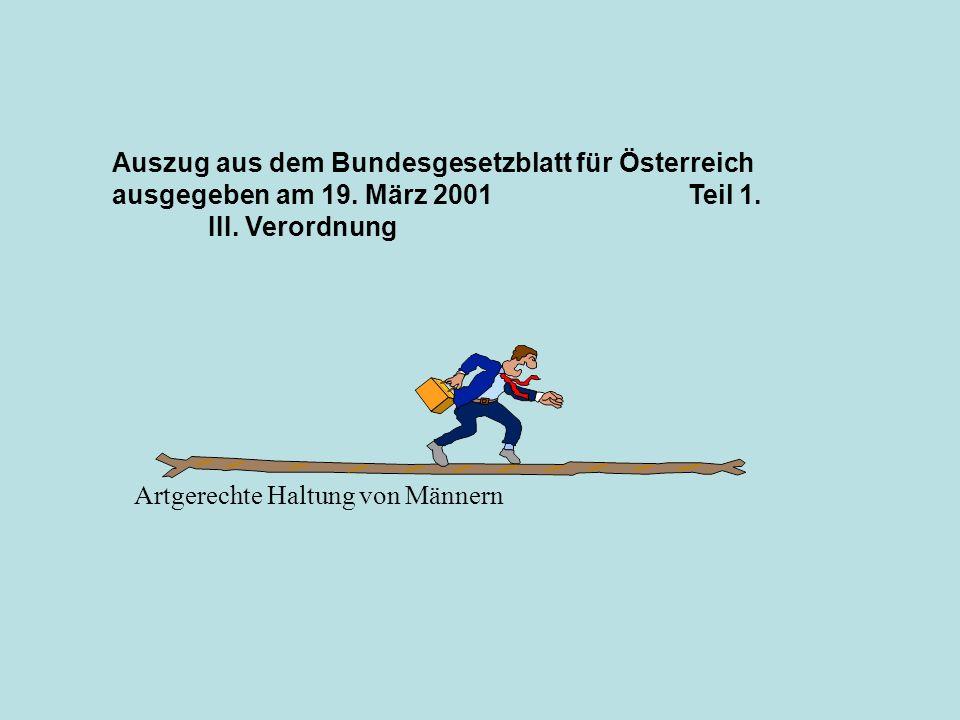 Auszug aus dem Bundesgesetzblatt für Österreich