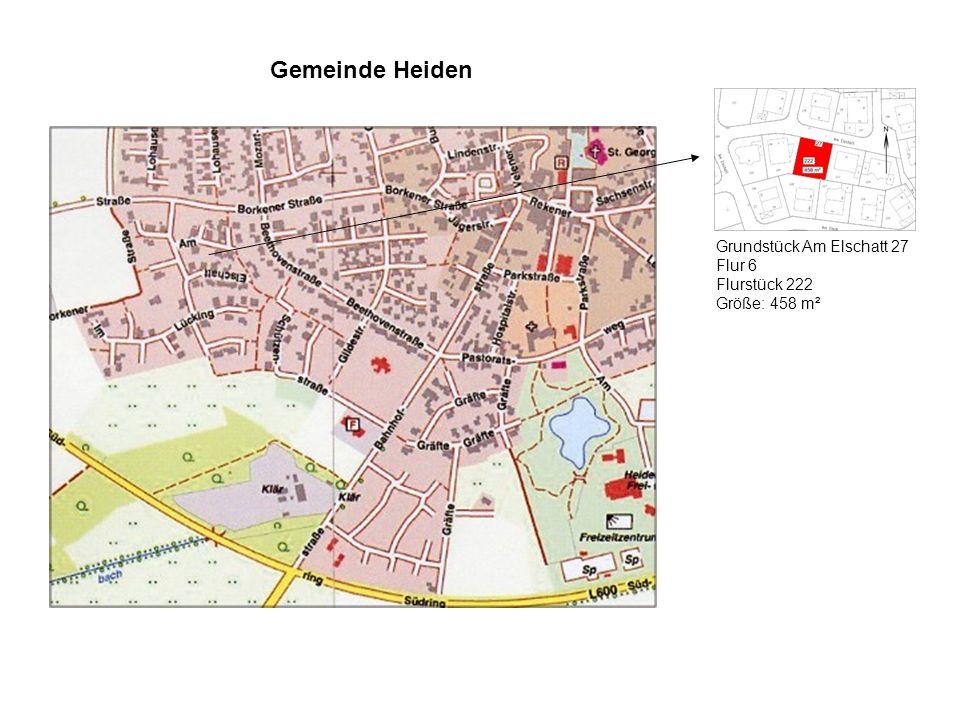 Gemeinde Heiden Grundstück Am Elschatt 27 Flur 6 Flurstück 222