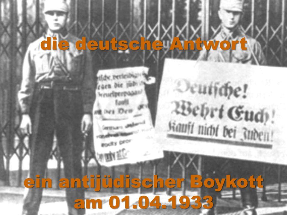ein antijüdischer Boykott