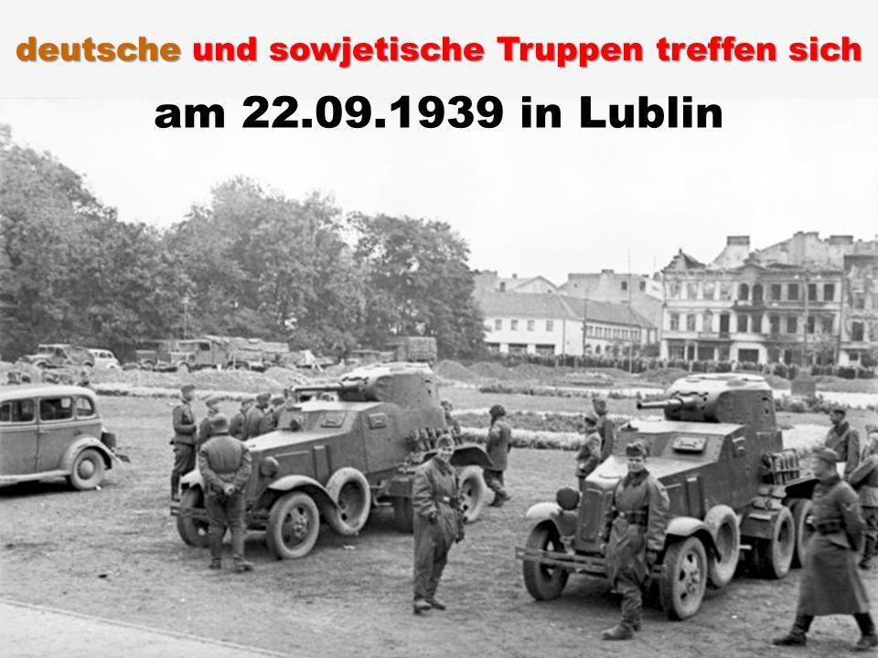 deutsche und sowjetische Truppen treffen sich