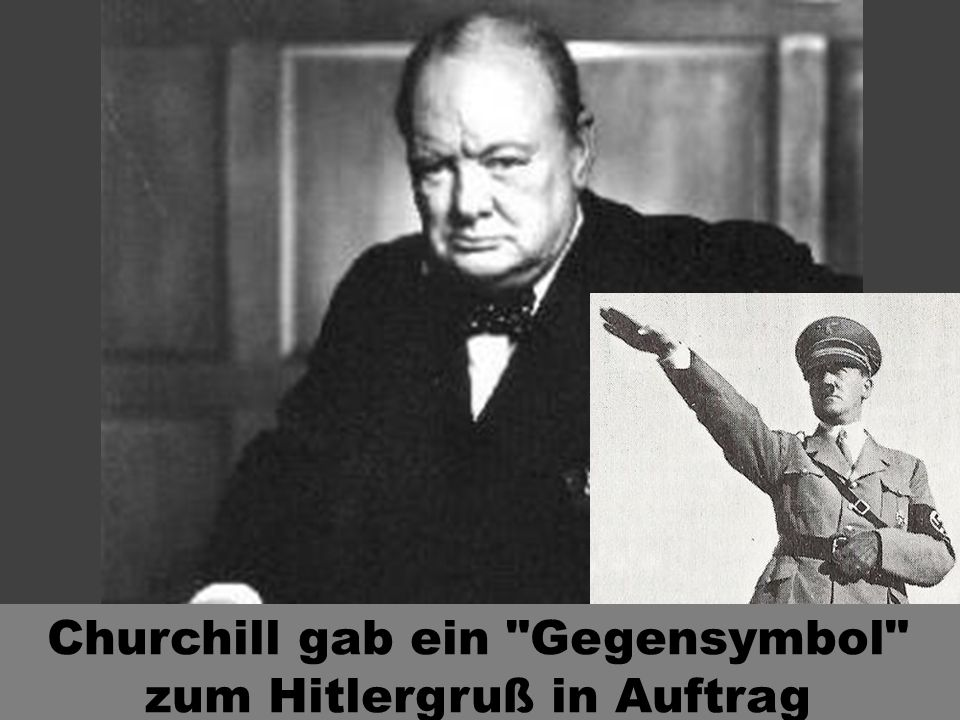 Churchill gab ein Gegensymbol zum Hitlergruß in Auftrag