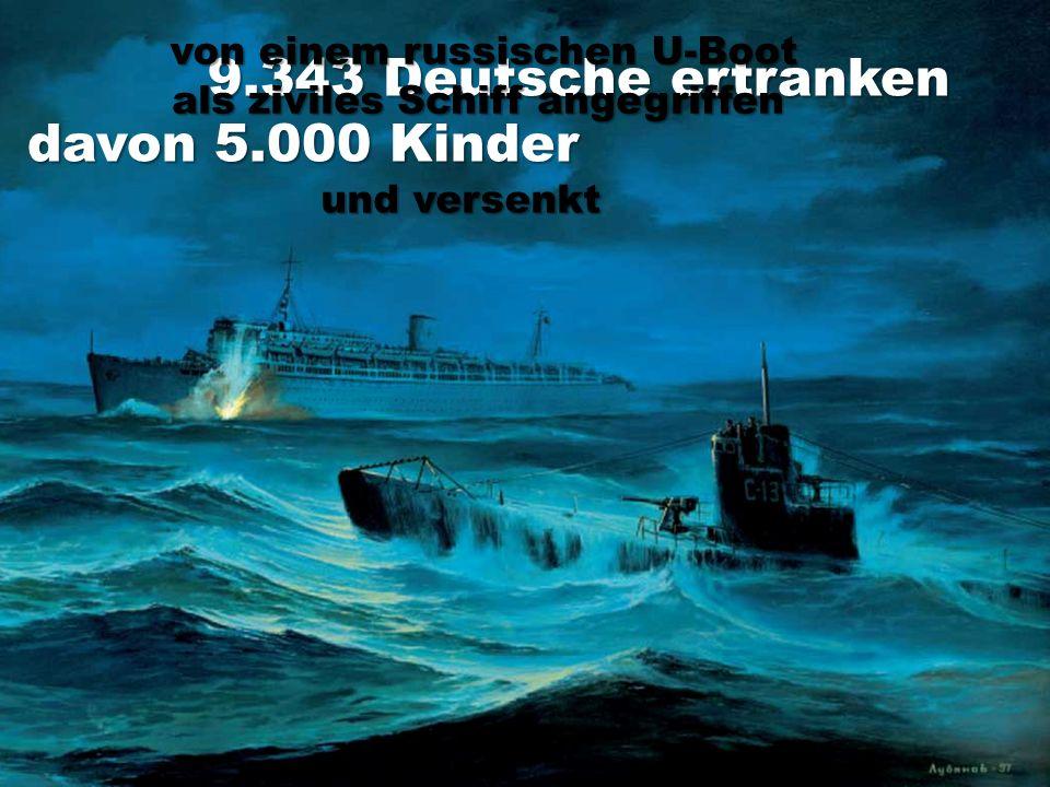 9.343 Deutsche ertranken davon 5.000 Kinder