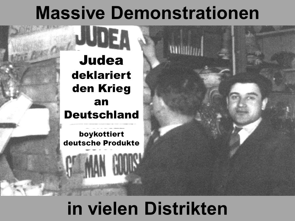 Massive Demonstrationen