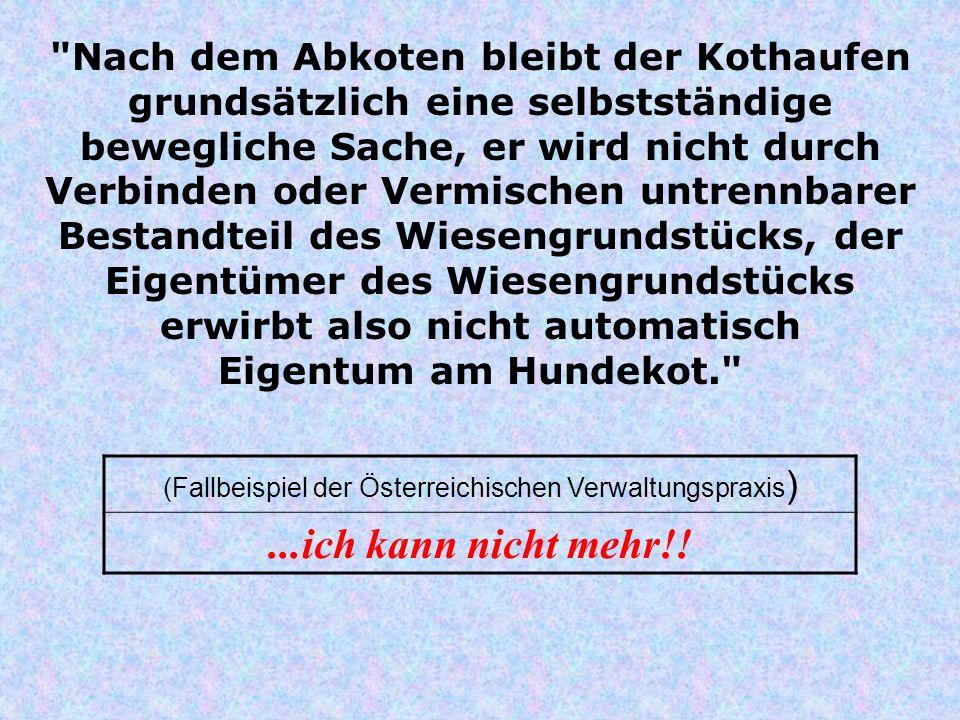 (Fallbeispiel der Österreichischen Verwaltungspraxis)
