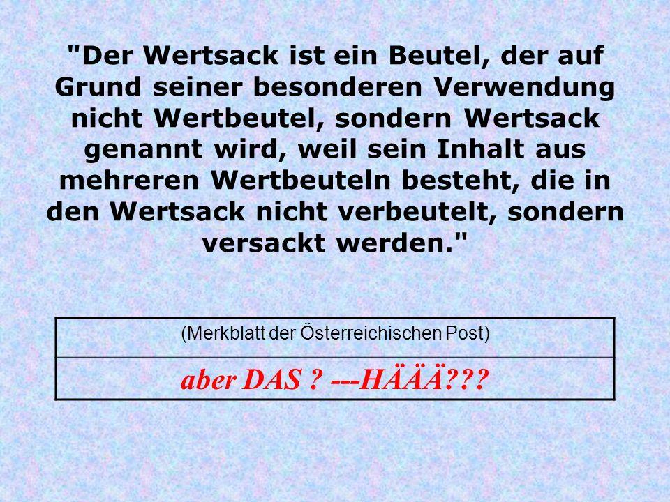 (Merkblatt der Österreichischen Post)