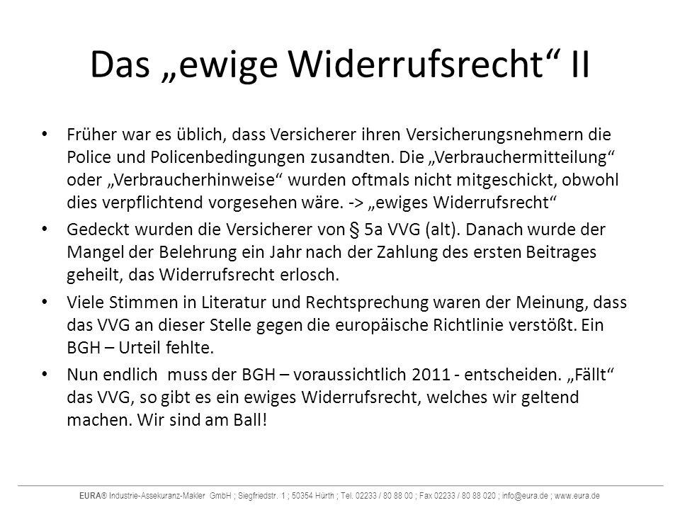 "Das ""ewige Widerrufsrecht II"