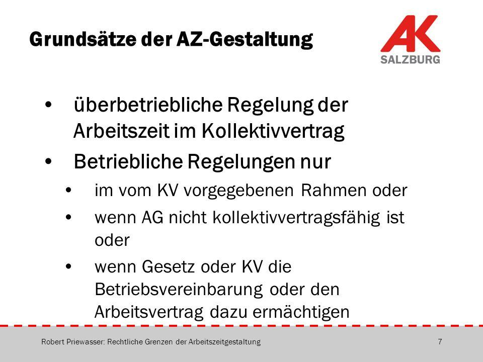 Grundsätze der AZ-Gestaltung