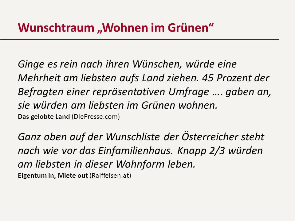 """Wunschtraum """"Wohnen im Grünen"""
