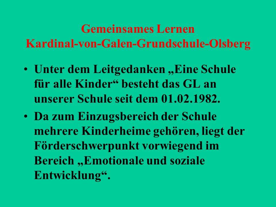 Gemeinsames Lernen Kardinal-von-Galen-Grundschule-Olsberg