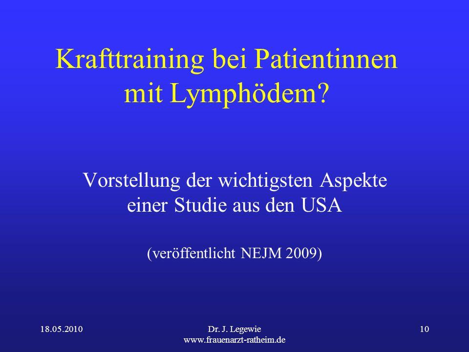 Krafttraining bei Patientinnen mit Lymphödem