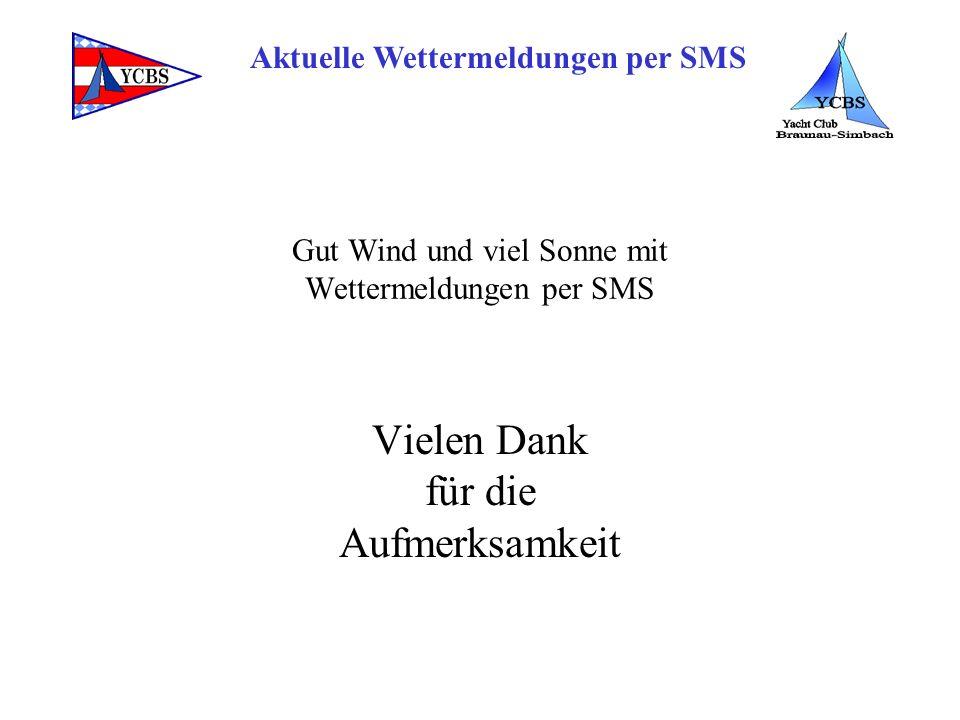 Gut Wind und viel Sonne mit Wettermeldungen per SMS