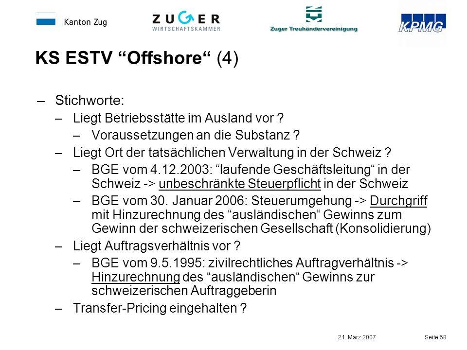 KS ESTV Offshore (4) Stichworte: