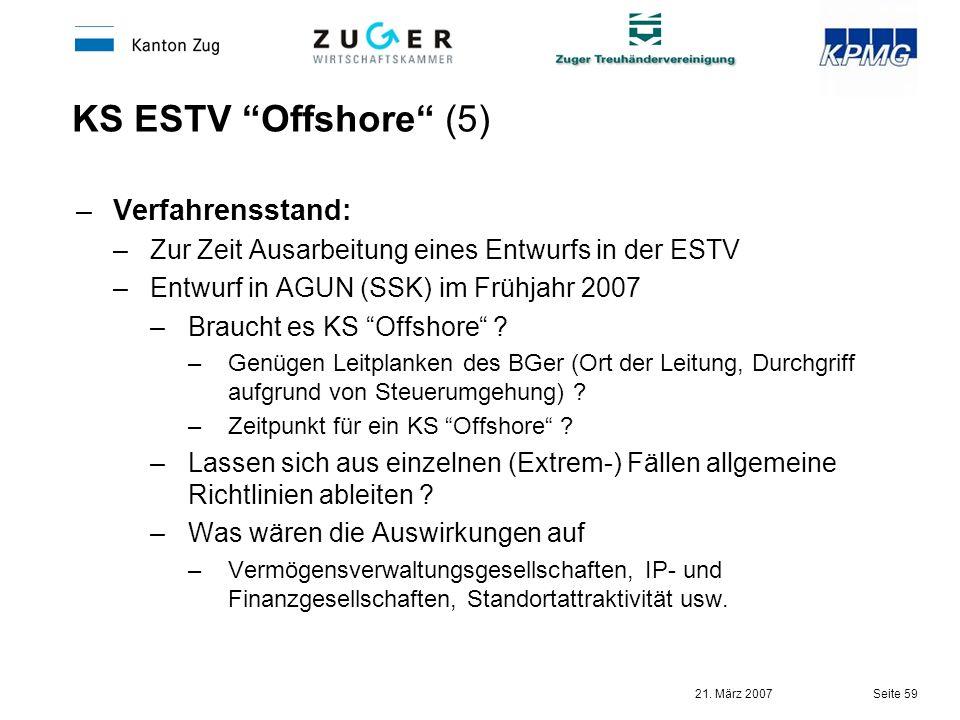 KS ESTV Offshore (5) Verfahrensstand: