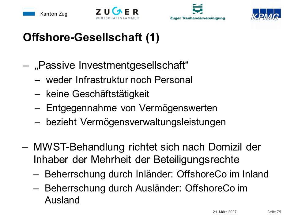 Offshore-Gesellschaft (1)