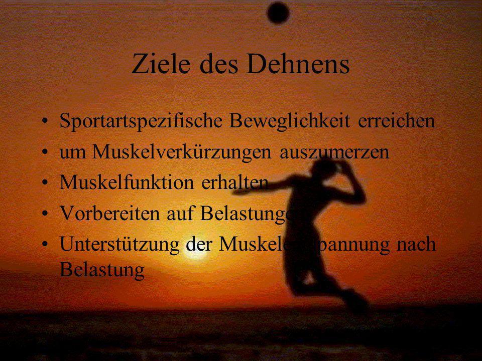 Ziele des Dehnens Sportartspezifische Beweglichkeit erreichen
