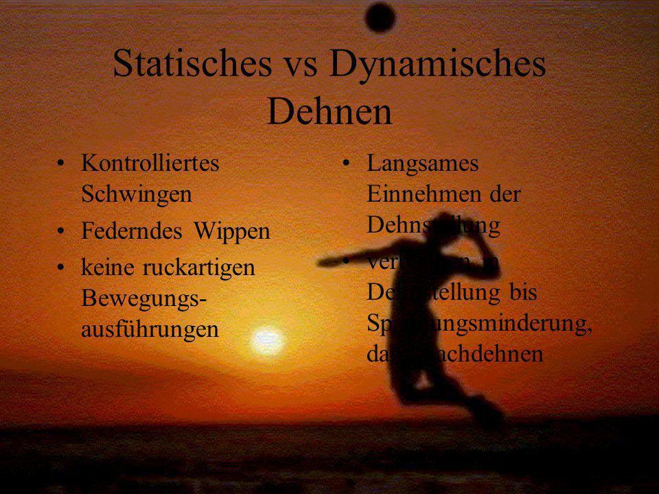 Statisches vs Dynamisches Dehnen