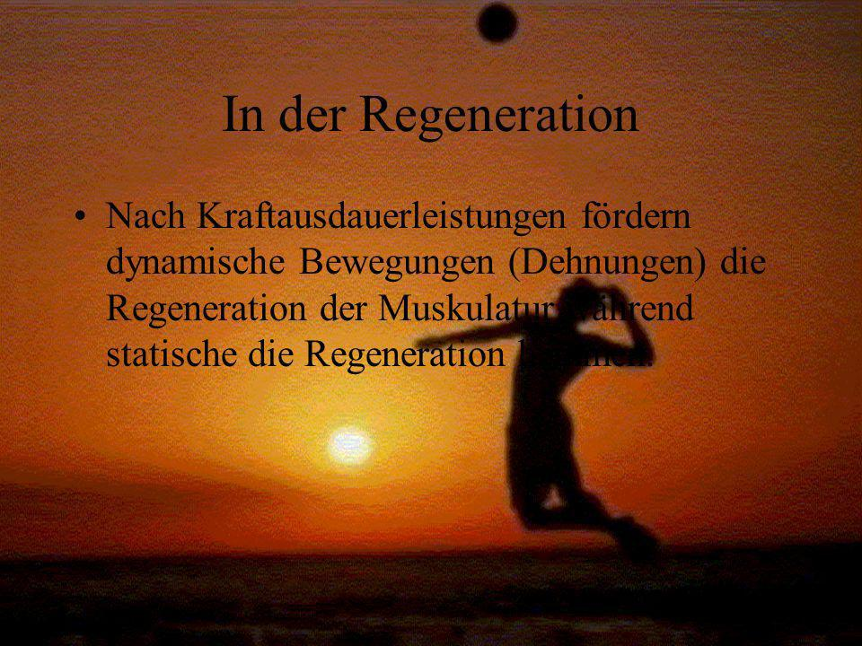 In der Regeneration
