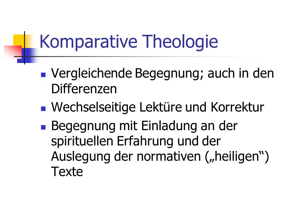 Komparative Theologie